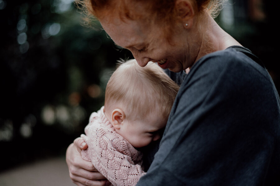 Mama Monika i mała Helenka